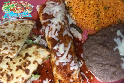 Vegetarian Mexican Food Dish at Acapulco Mexican Restaurant